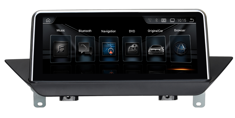 10 25 touch android 4 4 auto gps navigation f r bmw x1. Black Bedroom Furniture Sets. Home Design Ideas