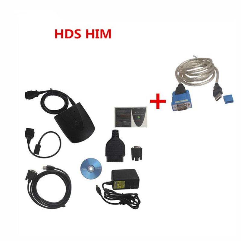 New V3.015.20 For Honda HDS HIM Diagnostic Tool with Double Board HDS HIM with Z-TEK USB1.1 To RS232 Convert Connector