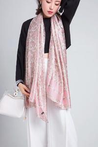 2020 Spring Autumn Fashion Natural Silk Scarf Women Luxury Brand Silk Foulard Bufanda Mujer Ladies Mine Floral Shawls and Wraps