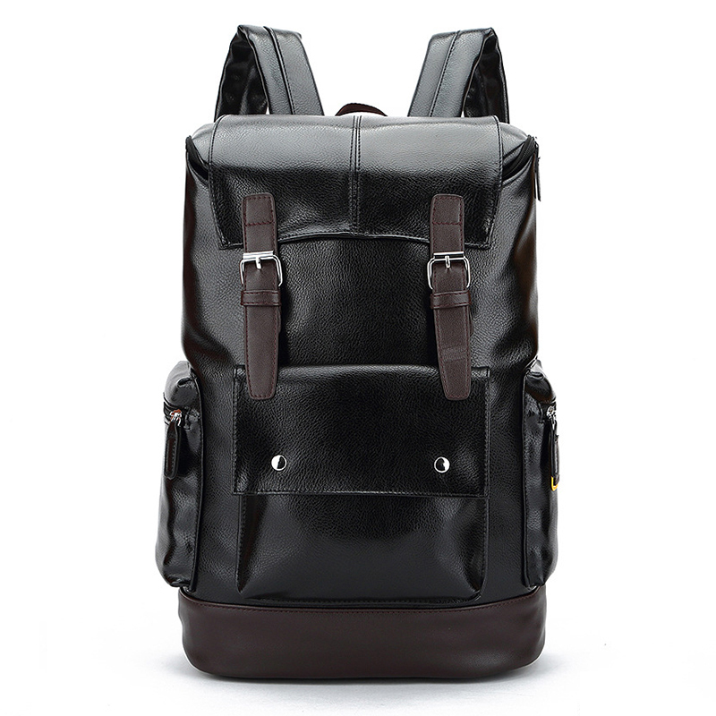Senkey style New Male Functional bags Fashion Men's Business Travel PU Leather backpack big capacity College Mochila Men bags functional capacity of mango leave extracts