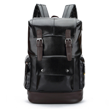 Senkey style New Male Functional bags Fashion Men's Business Travel PU Leather backpack big capacity College Mochila Men bags