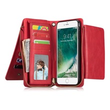 BuzzLee Multifunction Wallet Flip Phone Case for iPhone X 8 Plus 7 6 6s Plus Soft TPU Protective Back Cover Bag with Card Slots