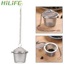HILIFE многоразовый чайник из нержавеющей стали, запирающий Чайный фильтр, шарик для приправ, многофункциональная сетка, травяной шар, ситечко для чая для специй