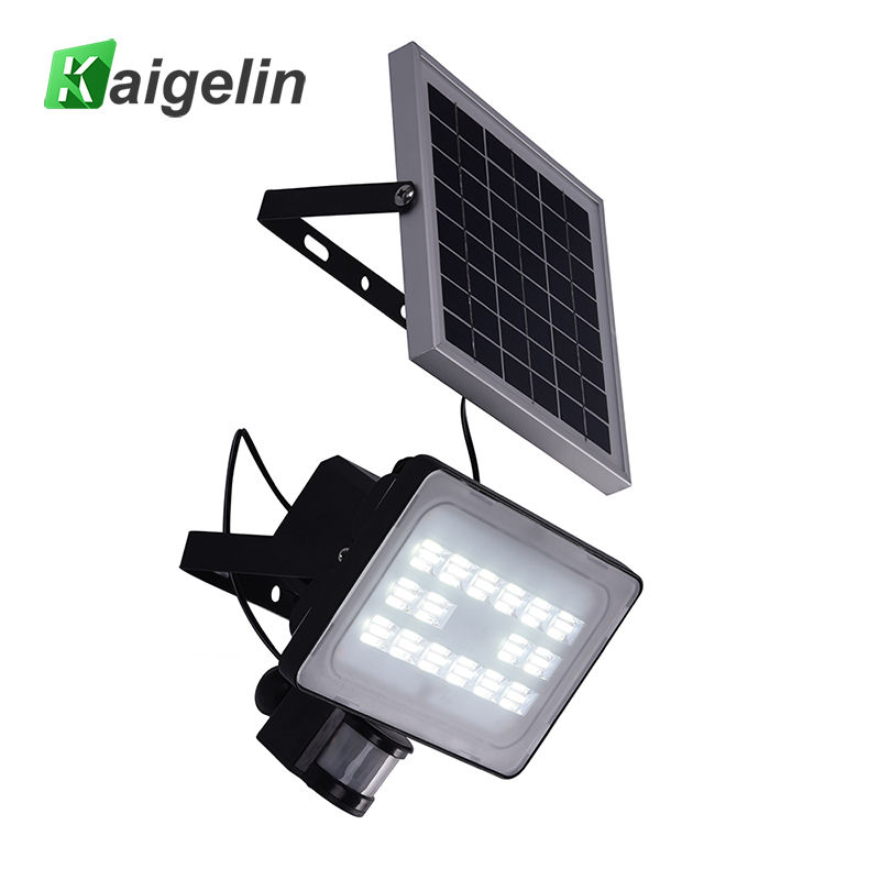 2 Pcs 30W 64 LED Solar PIR Motion Sensor LED Flood Light 3600LM Solar Lamp IP65 Solar LED Floodlight For Outdoor Garden Lighting