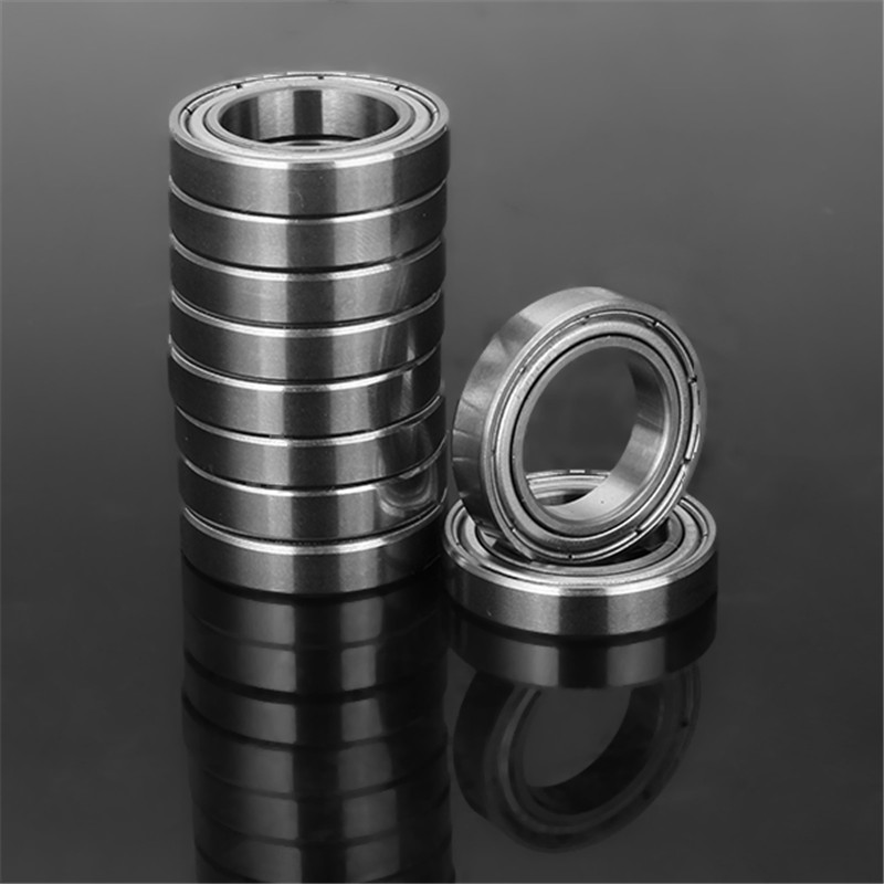SULEVE 10Pcs/Set <font><b>6802ZZ</b></font> 15x24x5mm Bearing Steel Miniature Deep Groove Ball Bearings Mechanical Hardware Durable New image