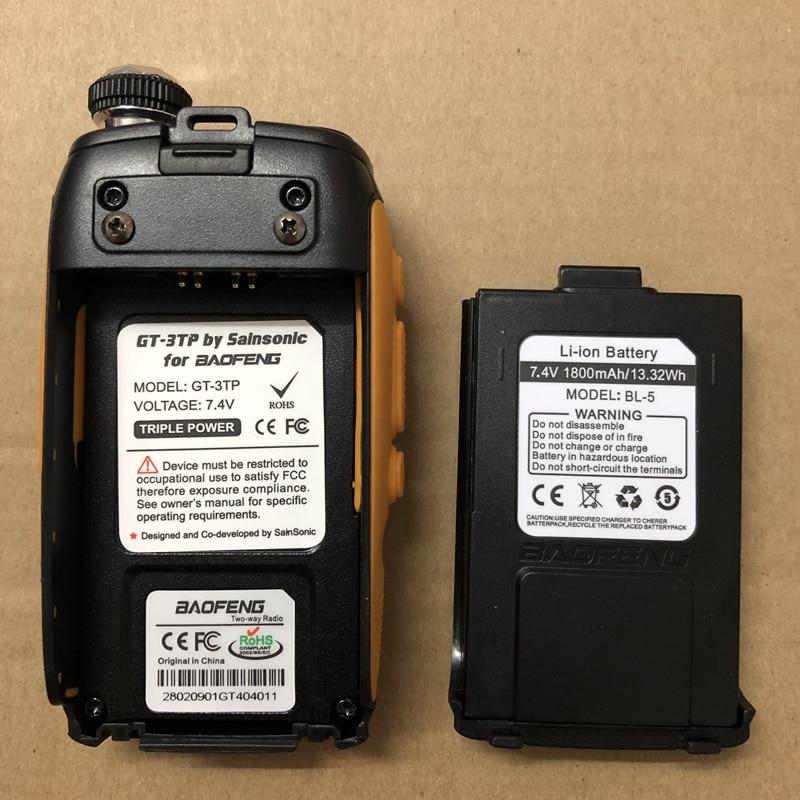 Image 3 - 2pcs  GT 3 GT 3TP battery walkie talkie 1800mAh LI battery 100% original GT 3 Mark II, GT 3TP Mark III battery-in Walkie Talkie from Cellphones & Telecommunications