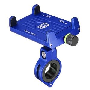 Image 3 - אלומיניום עם USB טעינת פונקצית אופנוע אופניים מחזיק טלפון סוגר עבור Iphone xs xr טלפון מחזיק GPS מכשיר 3.5  6.2 אינץ