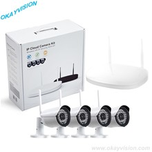 Free shipping 4CH 720P P2P wifi KIT with 4PCS 1.0MP wifi indoor Outdoor CCTV Security Camera System
