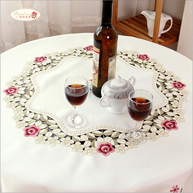 Rose Embroidered Tablecloth