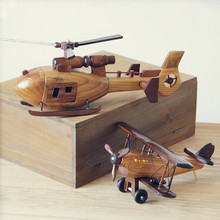 Creative Wooden Airplane Decoration Bedroom Living Room Office Home Gift