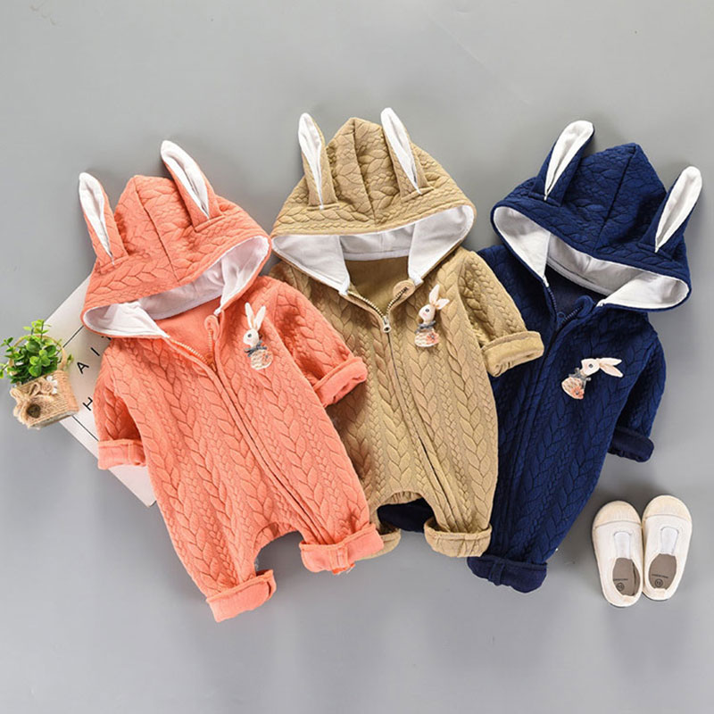 Newborn baby Boy girls clothes wear casual sports hooded suit jumpsuit cotton long-sleeved toddler baby clothing sets romper 2018 new baby girls rompers spring autumn long sleeved kids jumpsuit newborn pajamas baby boy clothing cotton baby romper