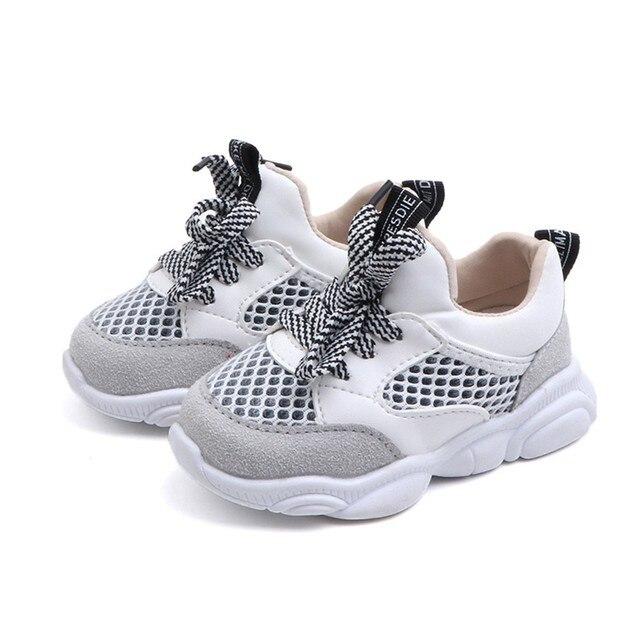 ילדי תינוק ילד בנות בני דוב רשת מכתב ריצה ספורט Sneaker נעליים יומיומיות zapatillas mujer לוס zapatos # י. ל.