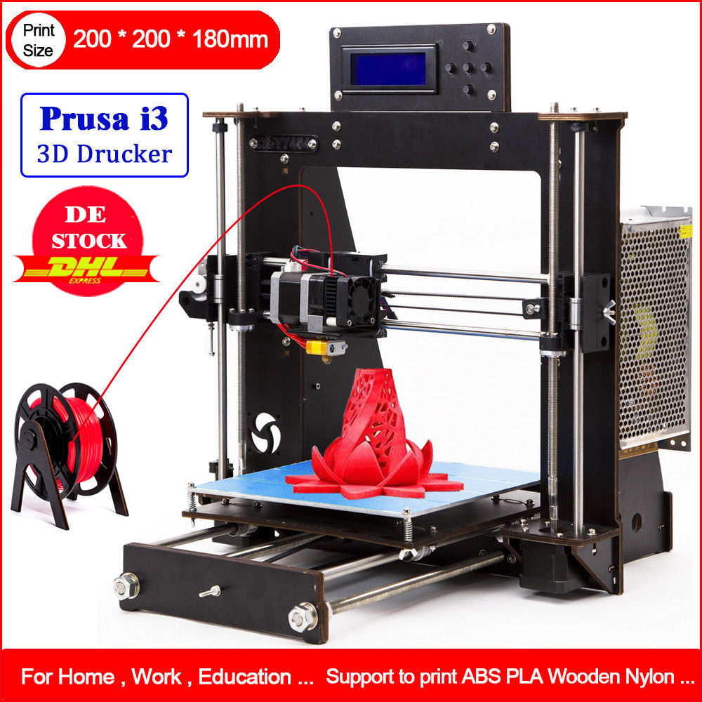 DE Stock 3D Printer DIY i3 Upgradest High Precision Reprap Prusa 3d Drucker mit PLA reprap prusa mendel diy 3d printer linear bearings silver 10 pcs