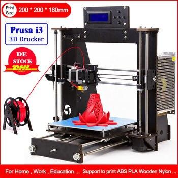 DE Stock 3D Printer DIY i3 Upgradest High Precision Reprap Prusa 3d Drucker Power Failure Resume Printing