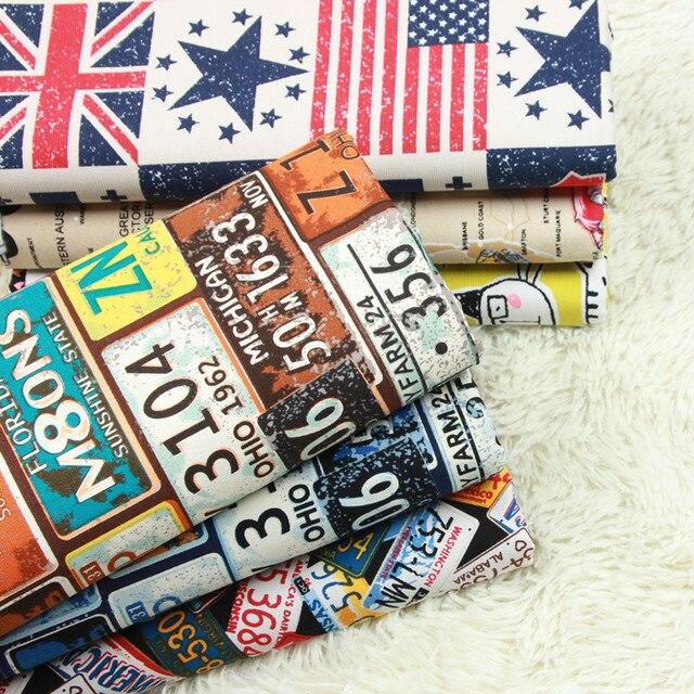 Meio metro 100% algodão Do Norte Da Europa sofá travesseiro almofada de volta almofada de tecido feito à mão DIY saco de lona pano A864