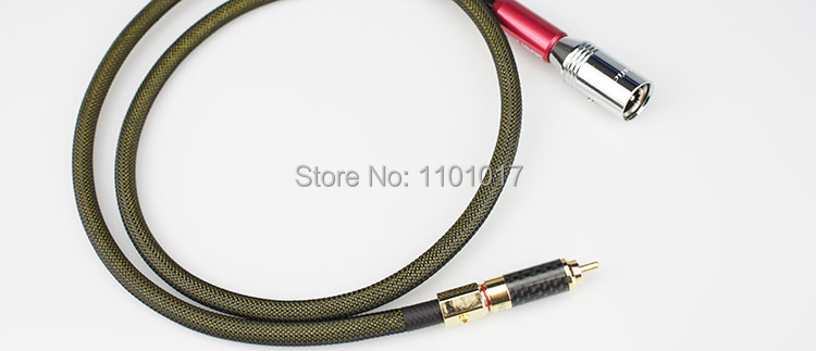 Aucharm AURTXC RCA to XLR Male or Femal Adaptor Cable HIFI EXQUIS 4N Red Copper Silver Plated Wires Pair
