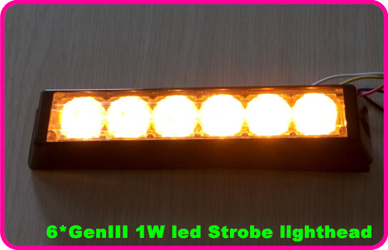 Higher star DC12V,6W led car grill warning lights,strobe warning light,emergency lights,headlight 22 flash,waterproof