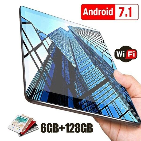 2019 nouveau WiFi android tablette 10 pouces dix Core 4G réseau Android 7.1 Buletooth appel téléphone tablette cadeaux (RAM 6G + ROM 16G/64G/128G)