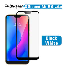 100% Original Celeassy 9H Full Cover Tempered Glass For Xiaomi Mi A2 Lite Glass Film Xiomi MiA2 Lite Screen Protector(China)