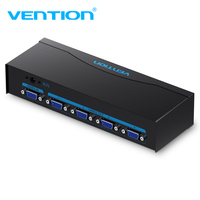 Vention VGA Splitter Adapter 1 In 4 VGA Switcher Converter With Power Supply For Laptop Projector