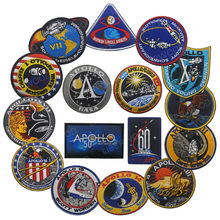 Vintage Asli Apollo 11 Voyager Emblem Kembali Ruang Patch Collage Amerika Serikat Misi Apollo Patch Set 1 7 8 9 10 11 12 13 14 15 16 17(China)