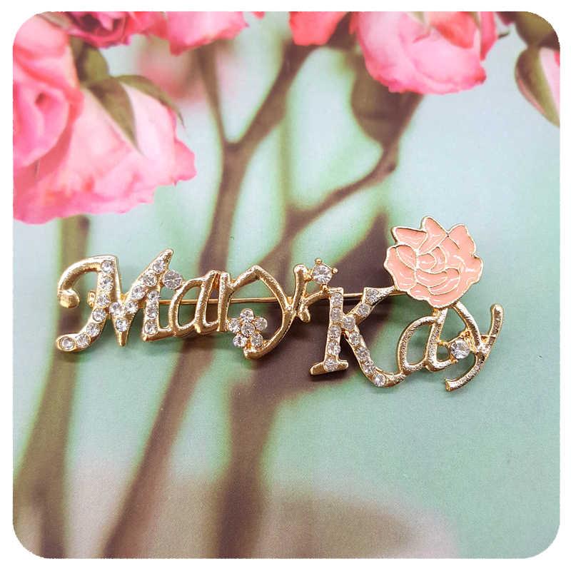 Nada Emas Berwarna Merah Muda, Merah Muda Rose Mary Kay Bros Pin untuk Keanggotaan