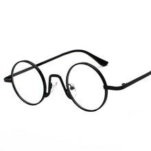 7488a6ef069 Mincl woman small glasses frame men vintage 2019 gold retro round circle  metal