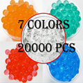 20000PIECES  7 COLORS SOFT CRYSTAL ORBEEZ WATER PAINTBALL BULLET GUN TOYS BIBULOUS WATER GUNS ACCESSORIES GROW PLANTS