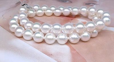 elegant AAA10-11mm round south sea white pearl necklace 18inch>Selling jewerly free shipping наволочки other 45 45 18inch