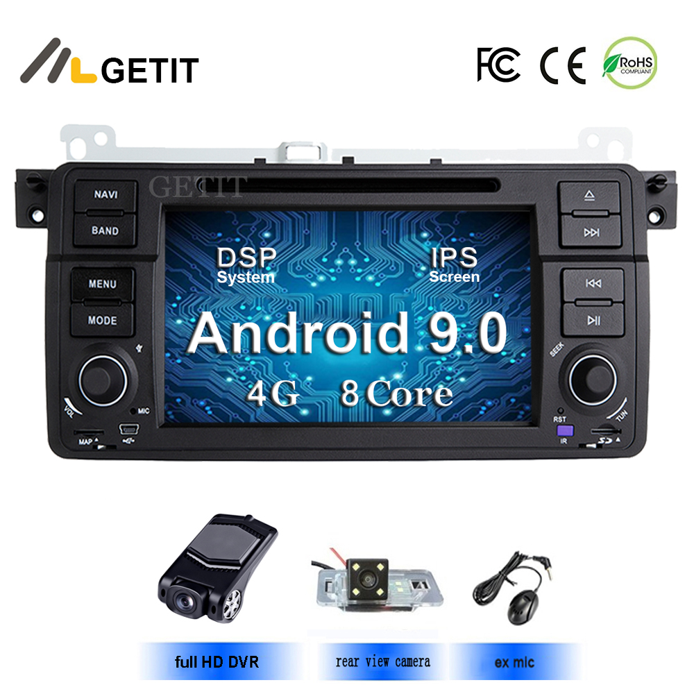 Android 9.0 One Din Car DVD Player for BMW E46 M3 Land Rover 75 3 Series Car stereo Radio BT Wifi GPS Navigation
