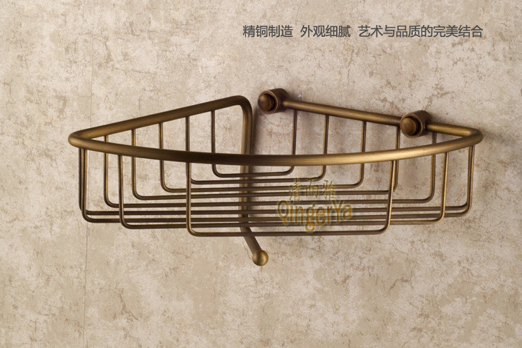 Clean and elegant bathroom offers a full European antique copper bathroom pod Bathroom Accessories A912