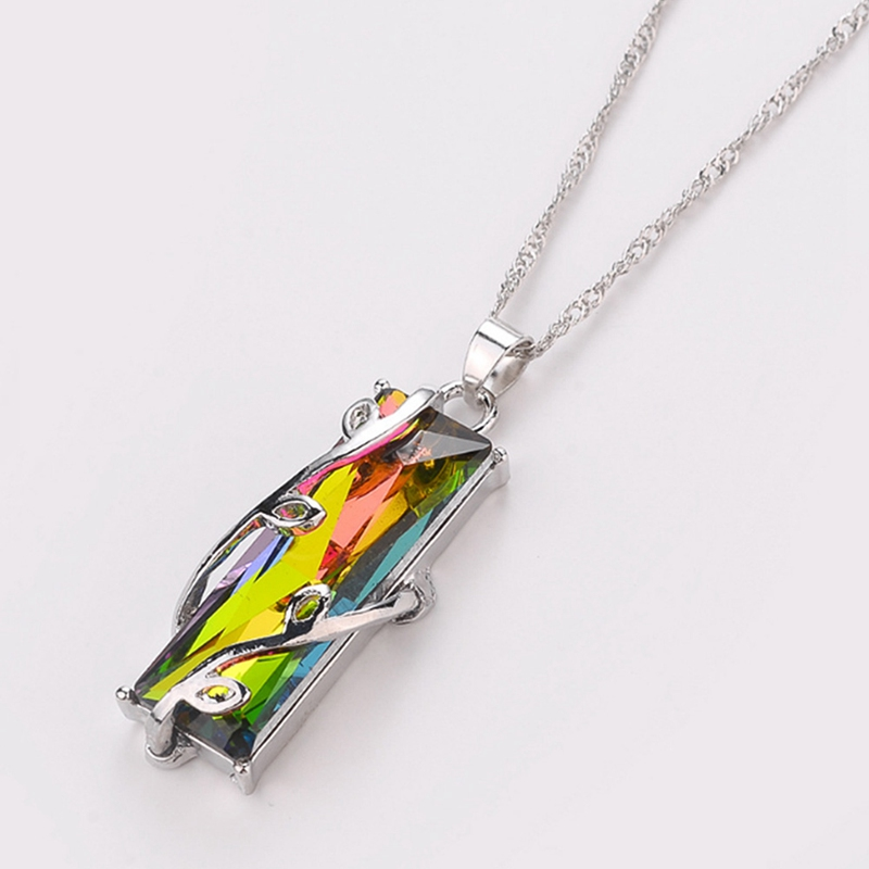 RAINBOW CRYSTAL PENDANT NECKLACE 6