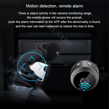Mini wifi camera IP hd secret cam micro small 1080p wireless videcam home outdoor STTWUNAKE Protection Spy Authorized store 3