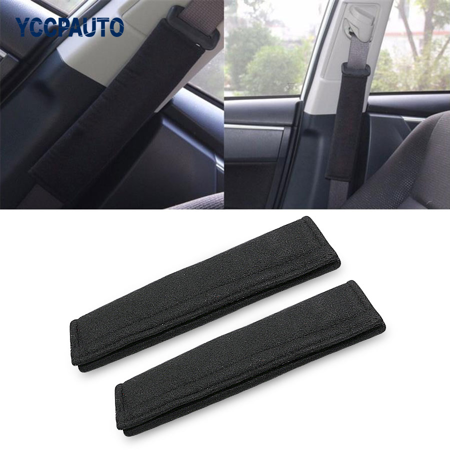 2Pcs Car Safety Seat Belt Shoulder Pads Cover Cushion Harness Comfortable Pad High Quality Inexpensive Black Color Free Shipping