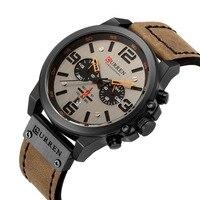CURRErelogio masculino Watch Men Military Quartz Watch Mens Watches Top Brand Luxury Leather Sports Wristwatch Date Clock 8314