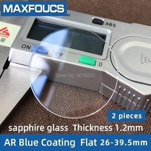 Image 1 - Saat camı safir cam AR mavi kaplama düz kalınlığı 1.2mm çap 26 mm ila 39.5mm ,2 parça ücretsiz kargo