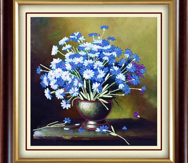 3d Silk Ribbon Embroidery Kit Flower Needlework Embroidery Supplies