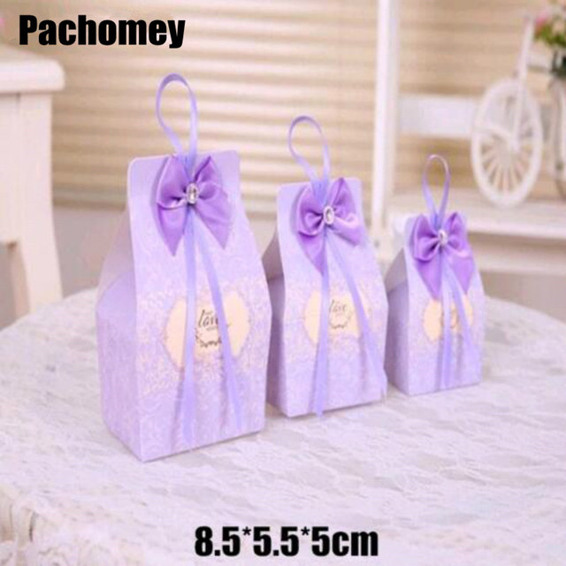 Hot Caixa Free Shipping 200pcs Purple Wedding Favor Bo Candy Box Casamento Favors And Gifts