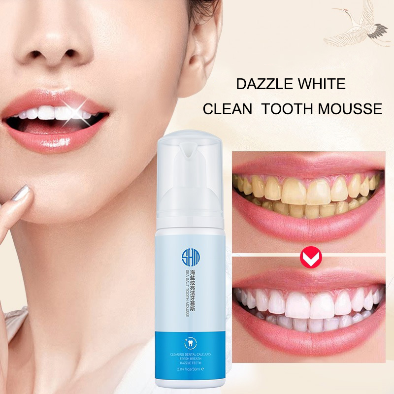 Sea Salt Teeth Whitening Mousse Stains Remover Dry Mouth Spray Tooth Cleaner 998 image