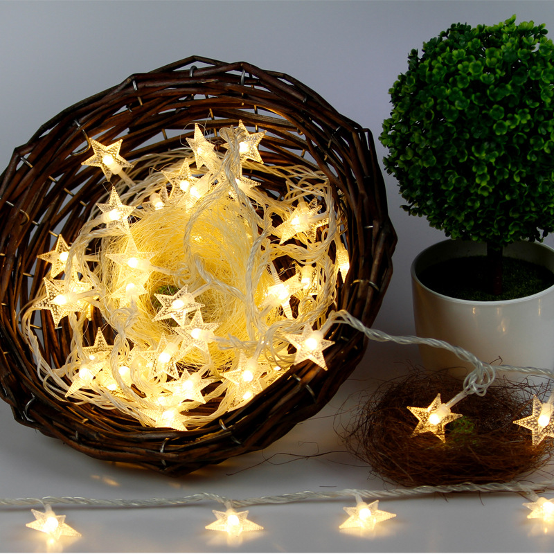 1m 10 Star Lights Fairy Lights Christmas Tree Decorations Luces Led Decoracion String Lights Christmas Outdoor Decorations .Q