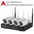 4CH 1080 P NVR Kits de Conexão P2P Plug and Play Sem Fio 4 pcs Sistema de Câmera De Segurança IP WI-FI CCTV