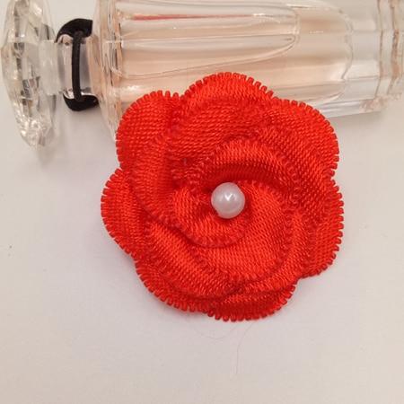 20 шт атласные Ленточные банты цветочные жемчужные свадебные аппликации «сделай сам» смешать четыре цвета - Цвет: 4