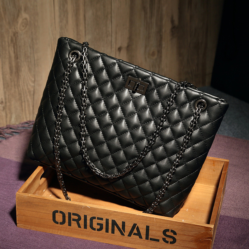 Kajie Diamond Lattice Women Bag Designer Handbag High Quality Lady Quilted Plaid Shoulder Crossbody Chain Leather Messenger Tote