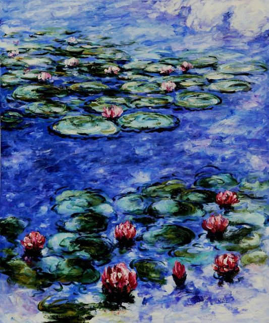High Quality, Claude Monet Art, Water Lilies Painting, Landscape Wall Art, Handpainted Canvas Painting, Impressionist