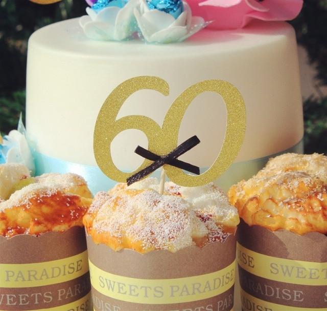 Glucklich Alter 60th Geburt Feier Nummer 60 Kuchen Deckel Geburtstag