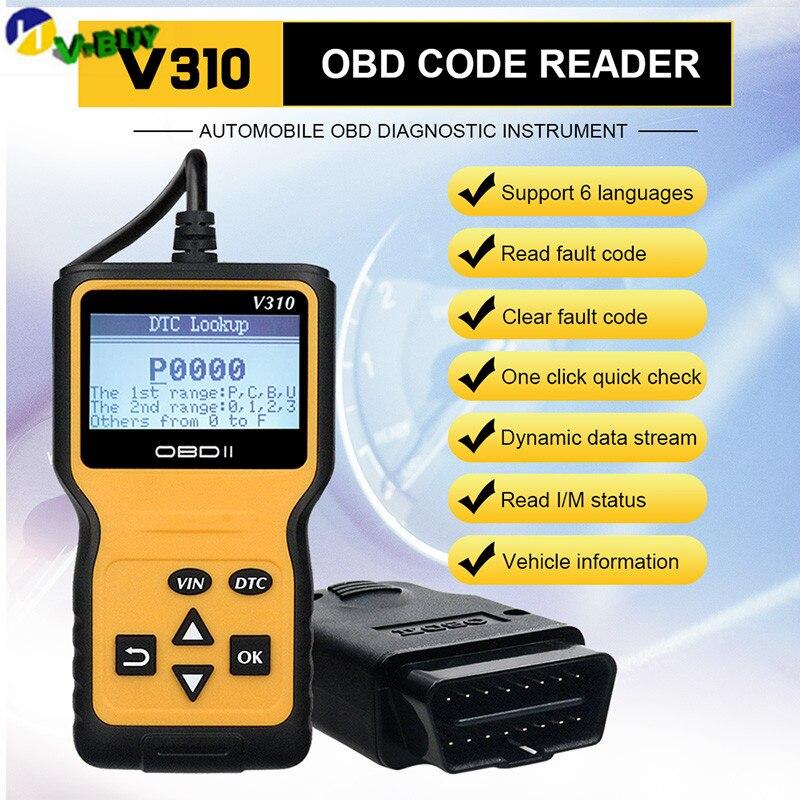 New EOBD OBD2 OBDII Scanner Diagnostic Live Data Code Reader for Volvo