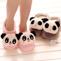 Super Cute 1 Pair Cartoon Lovely Romantic Panda Couple Fashion Winter Warm Soft Home Floor Slippers