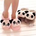 Super cute 1 pair cartoon lovely romantic panda couple fashion winter warm soft home floor slippers girl creative toy gift