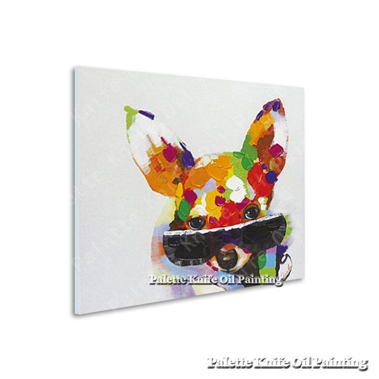 Olejomalba na plátně Nástěnné obrazy Obrazy pro obývací pokoj Wall Art Canvas Pop art Pes moderní abstraktní ručně malované 7
