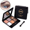 1pcs Cosmetic Eye Makeup Delicate Naked Shimmer Matte Glitter Smoky Long-lasting Eyeshadow Palette With Beauty Brush&Mirror